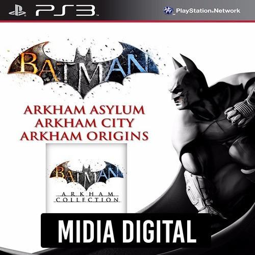 Batman Arkham Collection Asylum City Origins - Ps3 Psn*