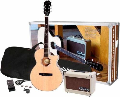 Combo EpiPhone Guitarra Electro Acústica - Player Back
