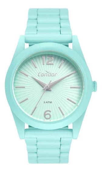 Relógio Feminino Condor Fun Co2035muu/8v 36mm Aço Verde