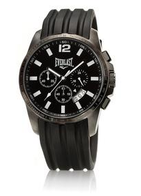 Relógio Masculino Everlast Pulseira Silicone E216 Analógico