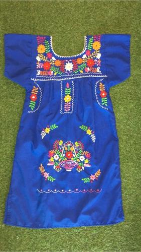 Vestido Mexicano Infantil T6 Bordado A Mão Original