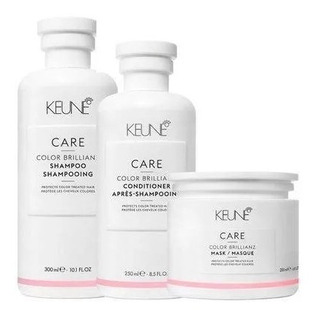 Sh 300ml + Cond 250ml + Másc 200ml Keune Color Brillianz