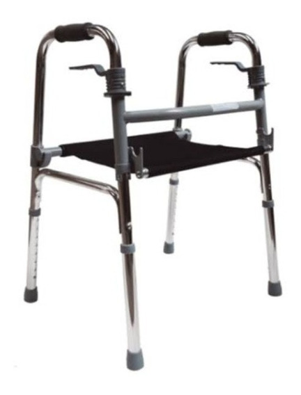 Andadera Ortopédica Con Asiento Plegable Aluminio