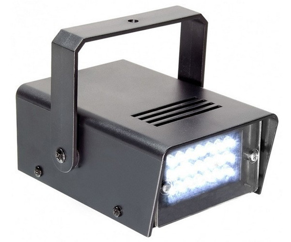 Mini Strobo 24 Led Flash Luz Branco 35w Iluminação Dj Efeito