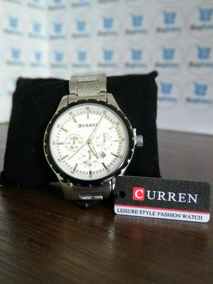 Relógio Original Importado Curren Masculino Pulseira De Aço
