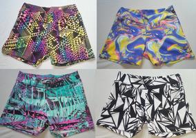 Kit 4 Shorts Com Cores E Estampas Variadas ( Tam. G )