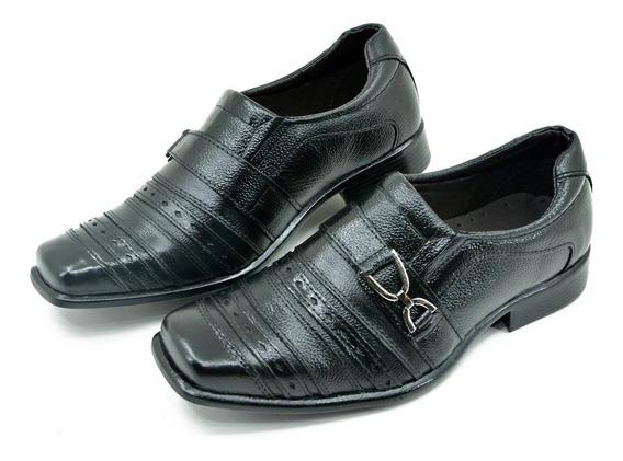 Sapato Social Em Couro . Preto