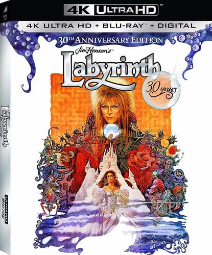 4k Ultra Hd + Blu-ray Labyrinth / Laberinto / 30 Aniversario