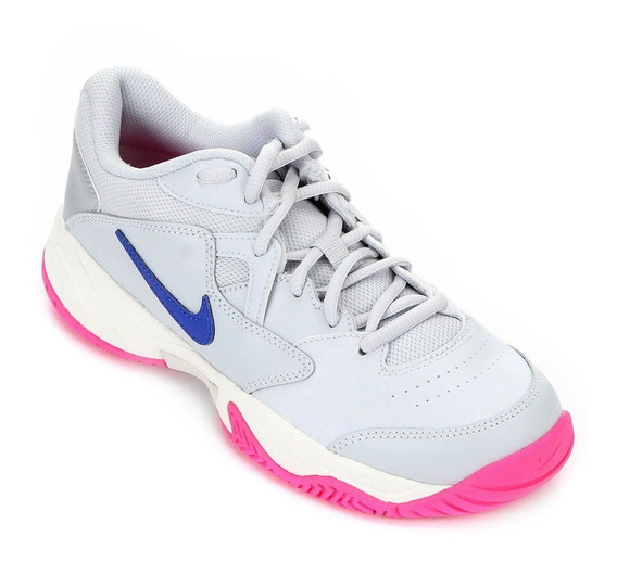 Tênis Nike Court Lite 2 Feminino - Prata, Azul E Rosa