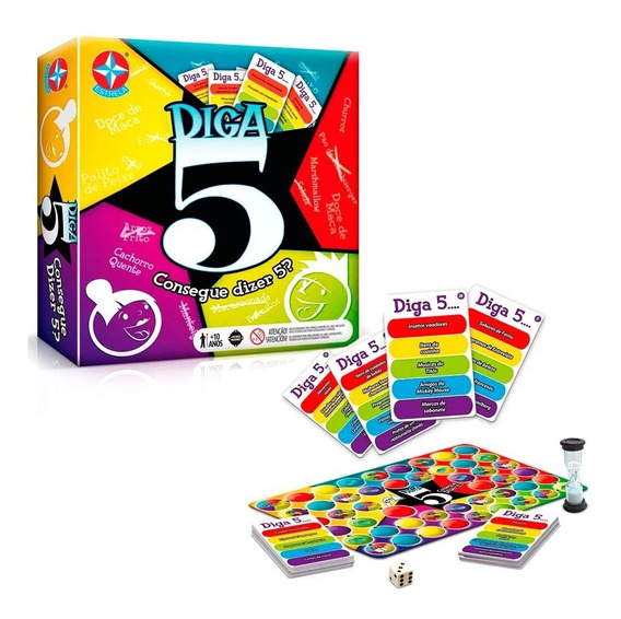Jogo Diga 5 Brinquedos Para Meninos Estrela Criança +10 Anos