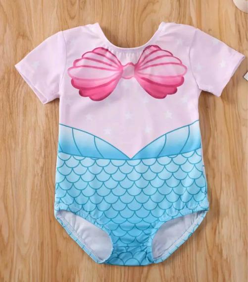 Traje De Baño Ariel/ Sirenita Bebe