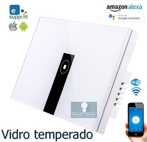 Interruptor Wifi Touch Acenda E Apague Pelo Celular - Ewelink App Android Ios - Funciona Com Google Home / Amazon Alexa