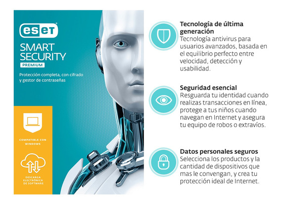 Eset Smart Security Premium 3 Lic 2 Años