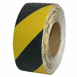 Cinta Antideslizante Adhesiva Amarillo-negro Rollo X 20mts