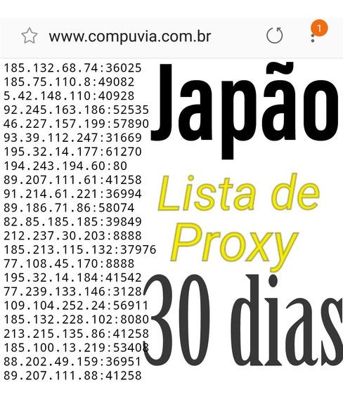 Lista De Proxy Japão 30 Dias