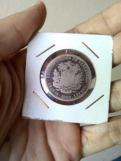 Moneda De Plata 2bs De 1889 Coleccion Numismatico