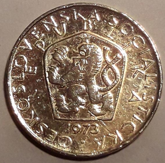 Checoslovaquia Moneda De 5 Korum Del Año 1973 - Muy Buena