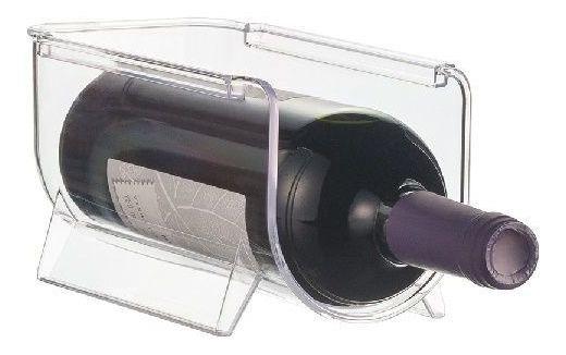 Suporte Acrilico Para Vinhos Empilhavel Transparente Ordene