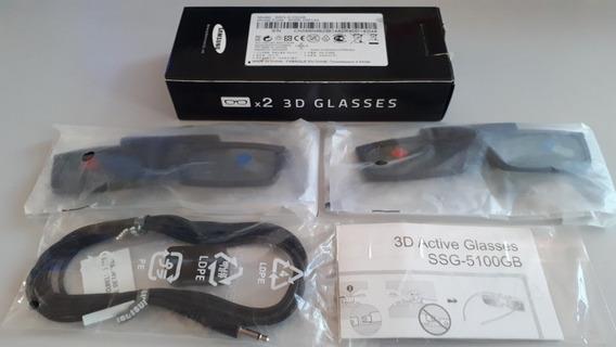 Óculos 3d Samsung Ssg-5100gb C/bateria Nunca Usados.