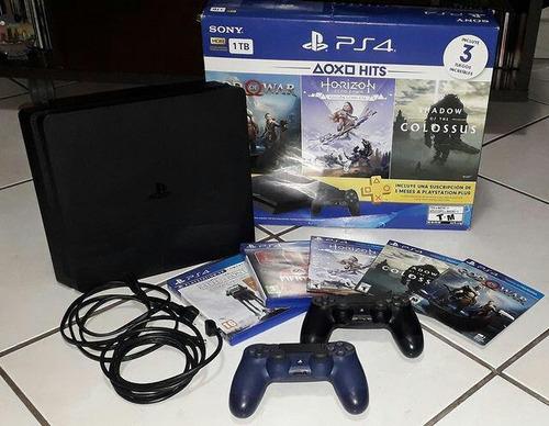 Playstation 4 De Itb Con 5 Juegos Y 2 Controles