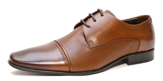 Zapato De Cuero Democrata Hombre Still 055115-001 Cuotas