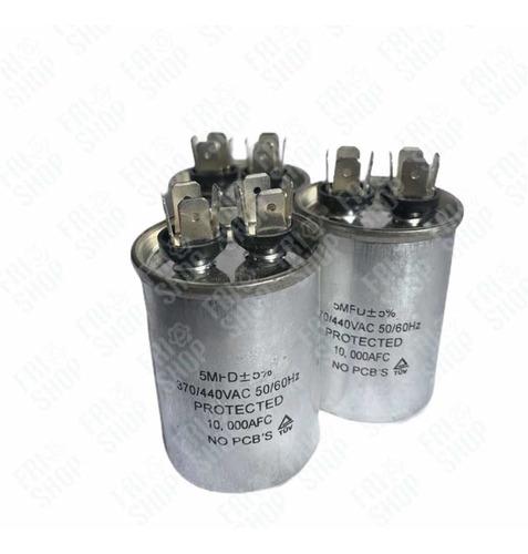 Capacitor 5 Uf - Condensador 5 Uf - 370/440v Frioshopvzla