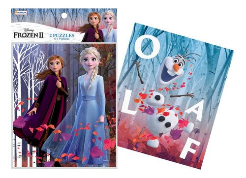 Imagen 1 de 2 de Frozen 2 Puzzle 2 Unidades Rompecabezas 6 Y 9 Piezas