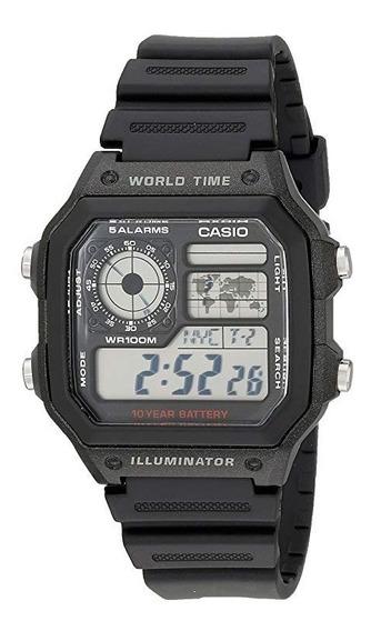 Relógio Casio Ae-1200wh-1avcf Original Bateria Dura 10 Anos