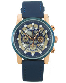 Reloj Crrju Tarsus En Azul Con Cronografo Funcional