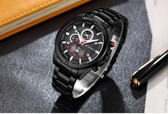 Relógio Masculino Curren 8275 Pulseira De Couro Original