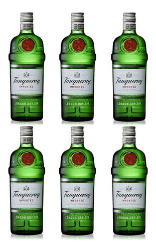 Pack 6 Unidades Gin Tanqueray London Dry 750ml 100%original