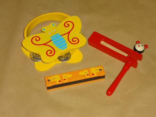 Set 3 Instrumentos Musicales Niñas  Niños /  Oferta Oxa