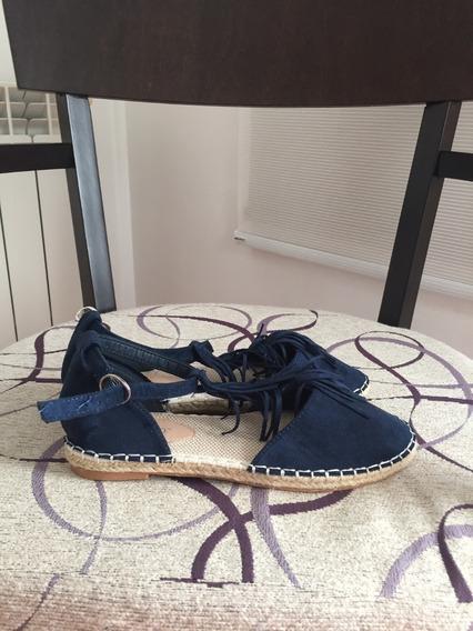 Calzado Azul Tipo Ballerina Nuevo Talle 38 Importado