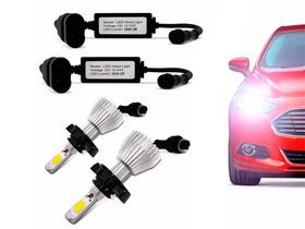 Kit Super Branca Led Lampada H4 6000k Hi/lo  Efeito Xenon