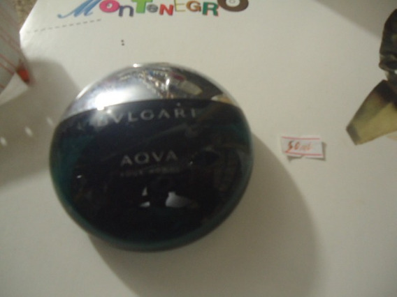 Perfume Bulgari Aqva Pour Homme 50ml Vazio Colecionador N10