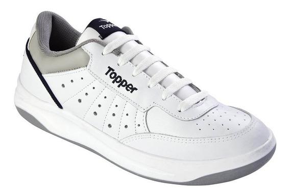 Zapatillas Topper X Forcer Adultos Cuero Blanco 21870