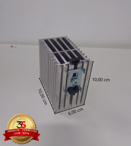 Dissipador P/ Rele De Estado Solido 10x6x10cm P/ Trilho Din
