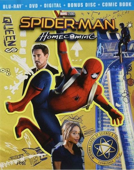 Spiderman De Regreso A Casa Homecoming Target Blu-ray + Dvd
