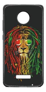 Funda Case Leon Rasta Reggae Moto G5 G6 Plus X Play Z2 C E4