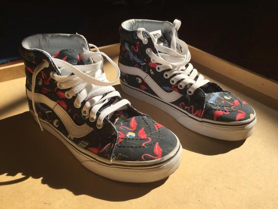Nuevas! Zapatillas Vans Sk8 Hi Talle 35.5