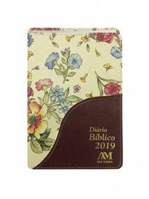 Diário Bíblico 2019 Capa Luxo Vinho Floral