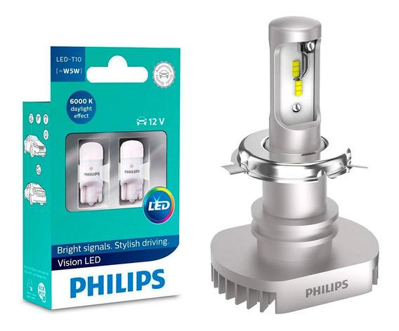 Led Moto Philips Ultinon Led H4 + T10 6200k Gsx 750 E 1000cc
