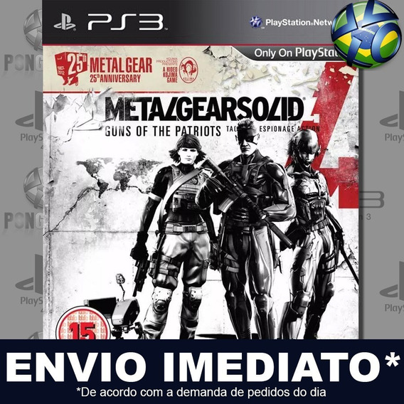 Metal Gear Solid 4 Guns Of The Patriots Ps3 Psn Jogo Play 3
