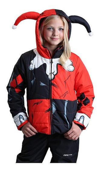 Chamarra Niña Harley Quinn Abrigo Dc Comics