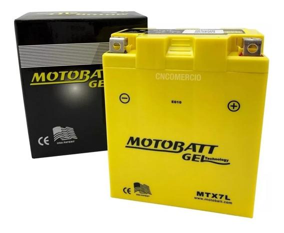 Bateria De Moto Motobatt Cbx250 Twister Fazer Titan 7ah 12v