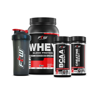 Combo Econômico Wpb Ftw Fitoway - (whey Chocolate 900gr + Bc