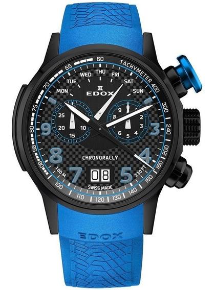 Reloj Edox Chronorally Ed38001tinnbu3 Ghiberti