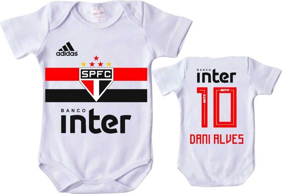 Body Infantil Personalizado Camisa São Paulo 2019 Nome Bebê