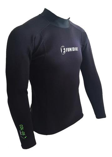 Camiseta Neoprene Manga Longa Fun Dive, Surf Náutica Pesca