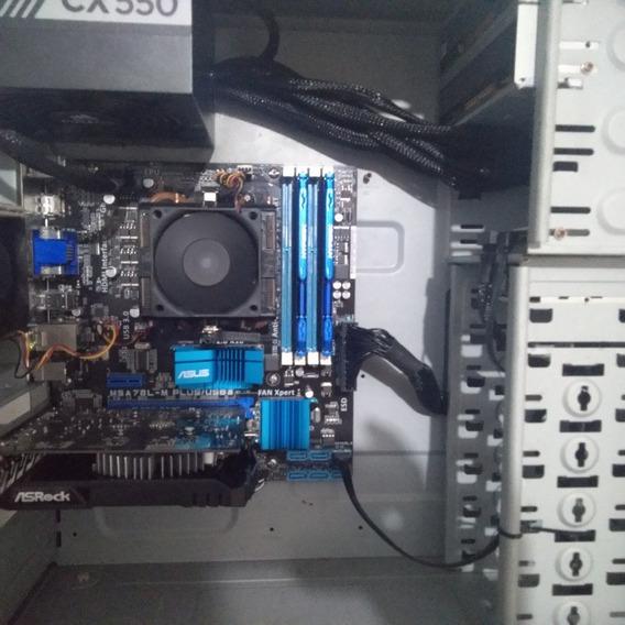 Pc Gamer 3,4ghz Quad-core, 8 Gb Ram, Rx 550 2gbvram,350gb Hd